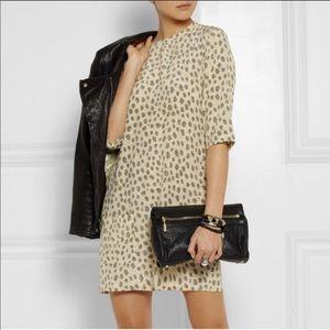NWOT Equipment Femme Aubrey leopard dress XS